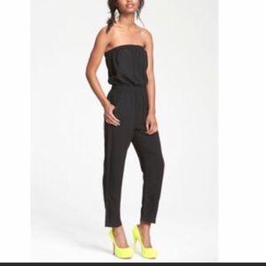 NY&CO Jumpsuit. Strapless. Stretch. Pockets. Ankle